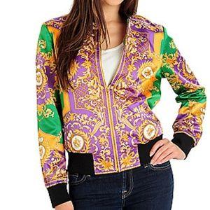 WD.NY Satin Status Printed bomber jacket